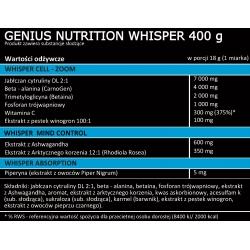 Whisper 400g - tabela składu